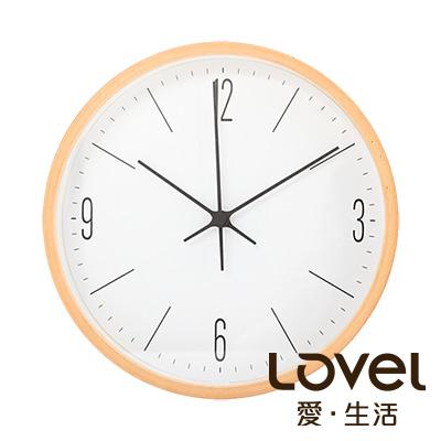 LOVEL 20cm 日系木質靜音時鐘-共5款