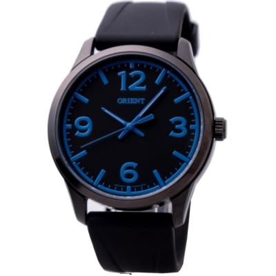 ORIENT 東方極限運動潮流腕錶-IP黑x藍色指標/42mm