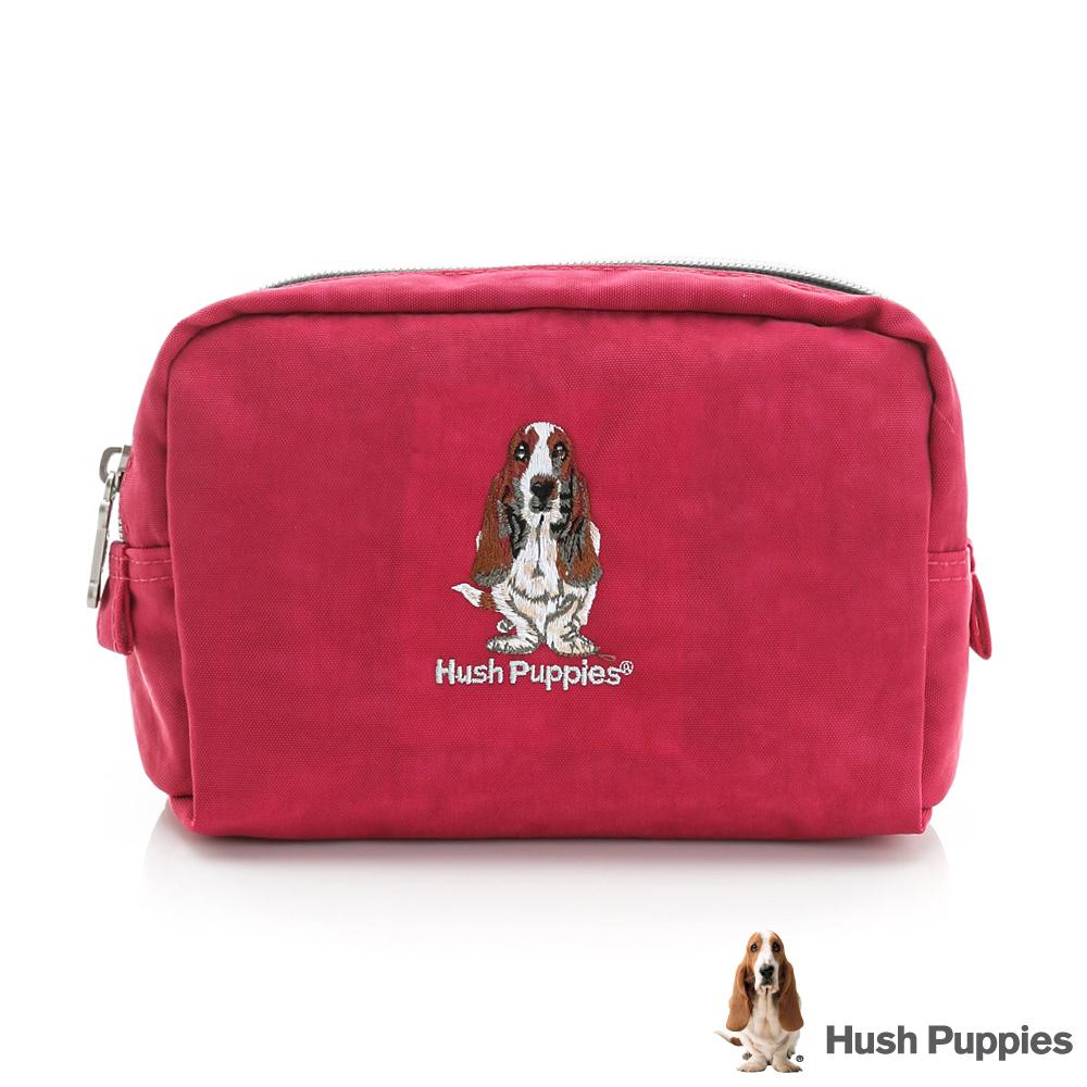 Hush Puppies 化妝包-桃紅色