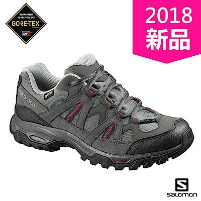 Salomon 登山鞋 低筒 GORETEX 防水 女 ESCAMBIA 2 灰