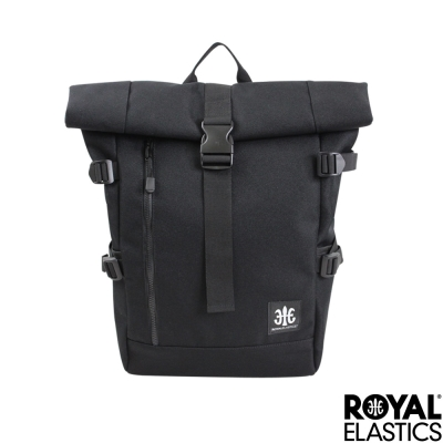 Royal Elastics - 捲蓋式休閒後背包 - Hunter都會獵人系列 - 黑