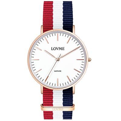 LOVME 城市簡約風手錶-IP玫/41mm