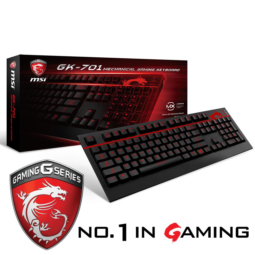 MSI 微星 茶軸機械式電競鍵盤GK701 職業級Cherry軸