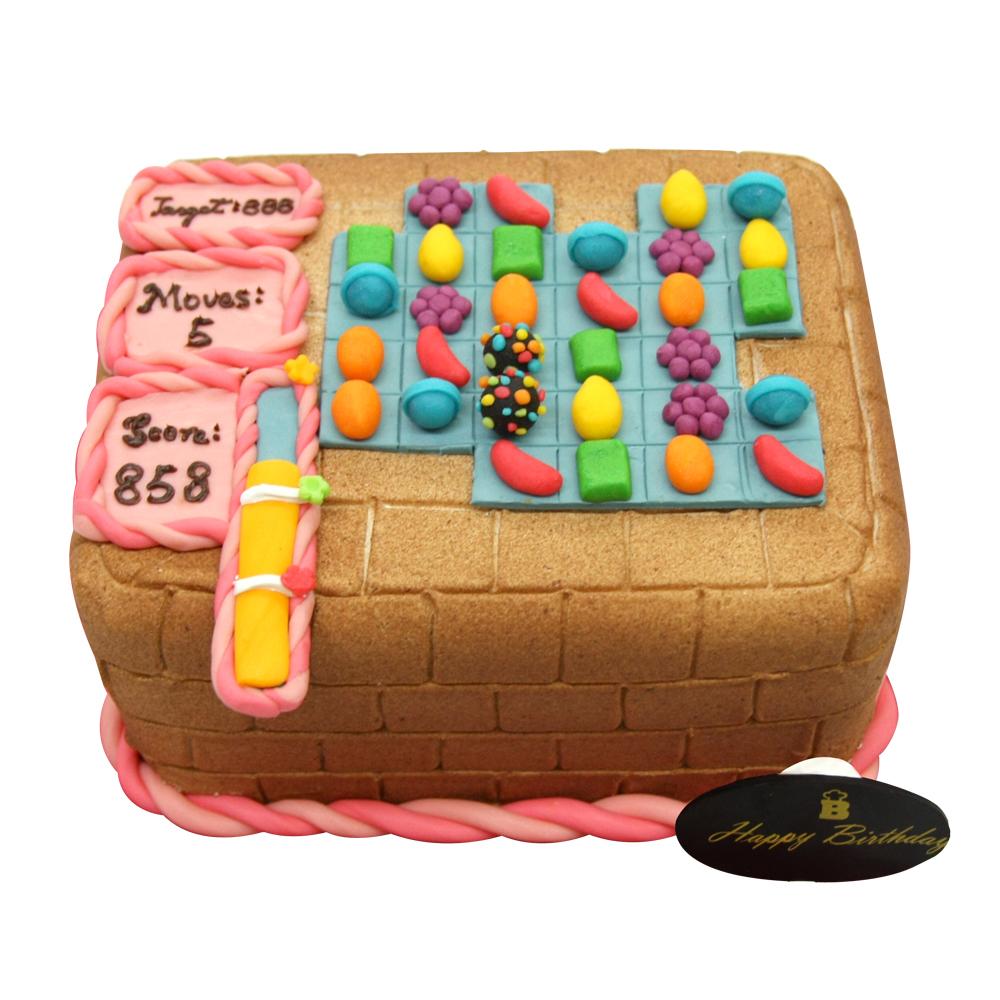 【巴特里】candy crush遊戲造型蛋糕(8吋)