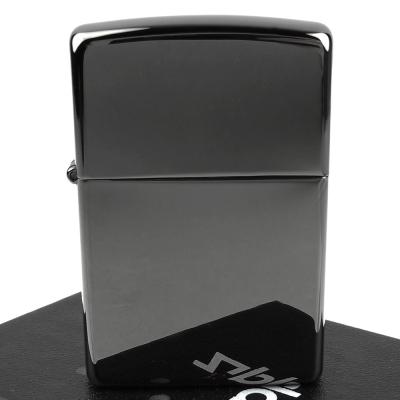 【ZIPPO】美系~超質感Black ice~黑冰色鏡面打火機(寬版)