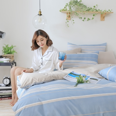 GOODDAY-簡單-纖絨棉-防蹣薄被套床包組(加大)