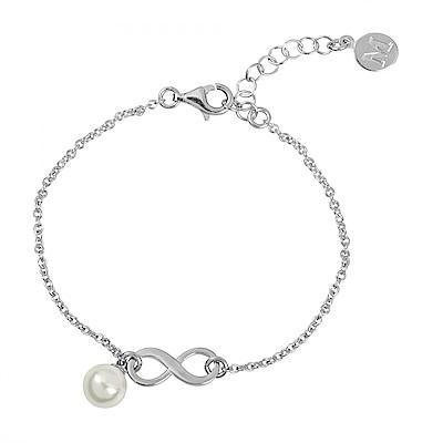 Majorica西班牙珠寶 無限珍珠銀色手鍊