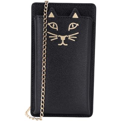 Charlotte Olympia Kitty i Phone5 貓咪鍊帶手機套(黑色)