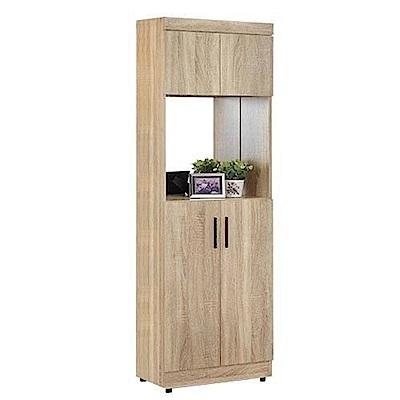 AT HOME-高爾2.7X6尺橡木紋中空鏡面高鞋櫃(60*32*180cm)