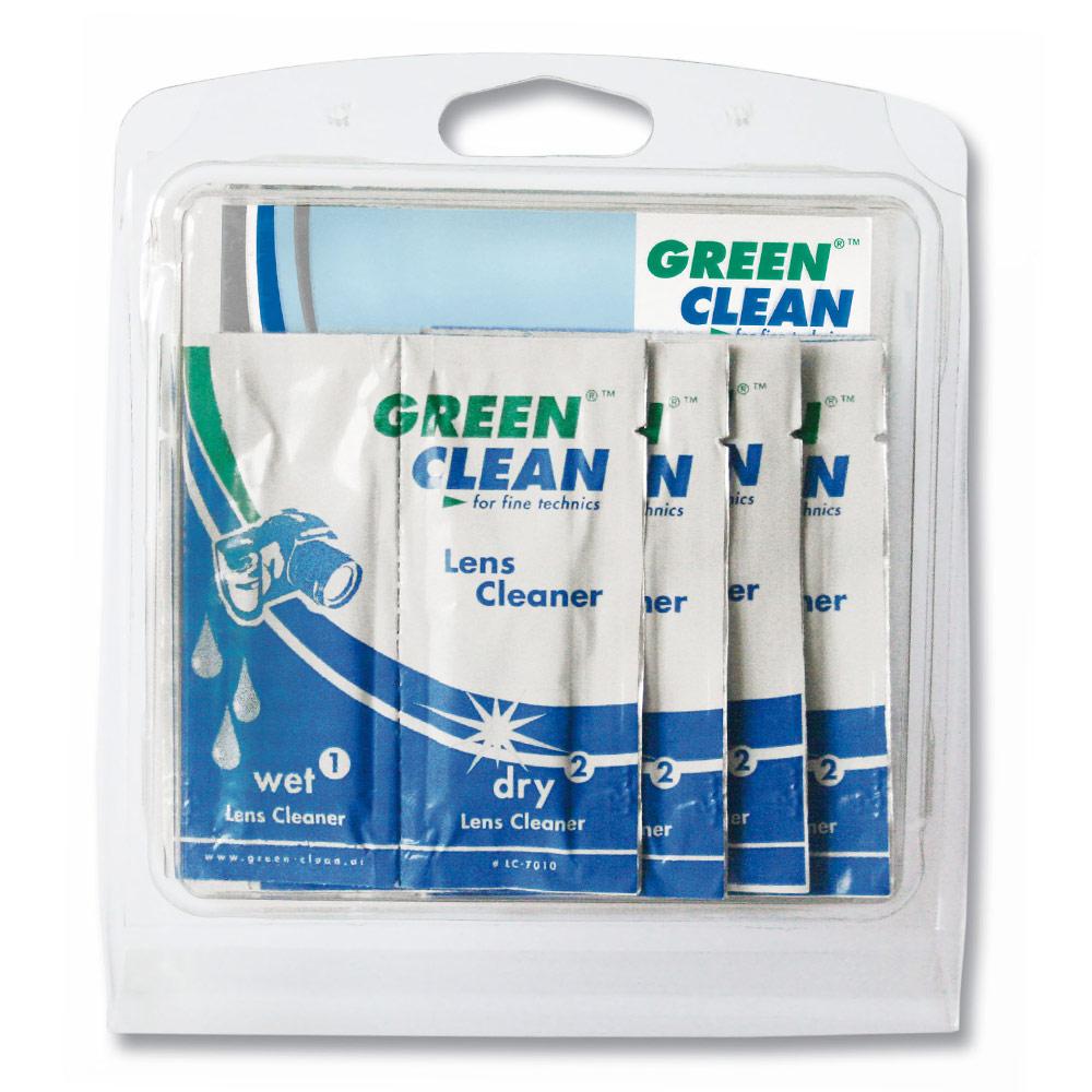 GREEN CLEAN綠色清潔 鏡片清潔乾濕巾5入 LC7010