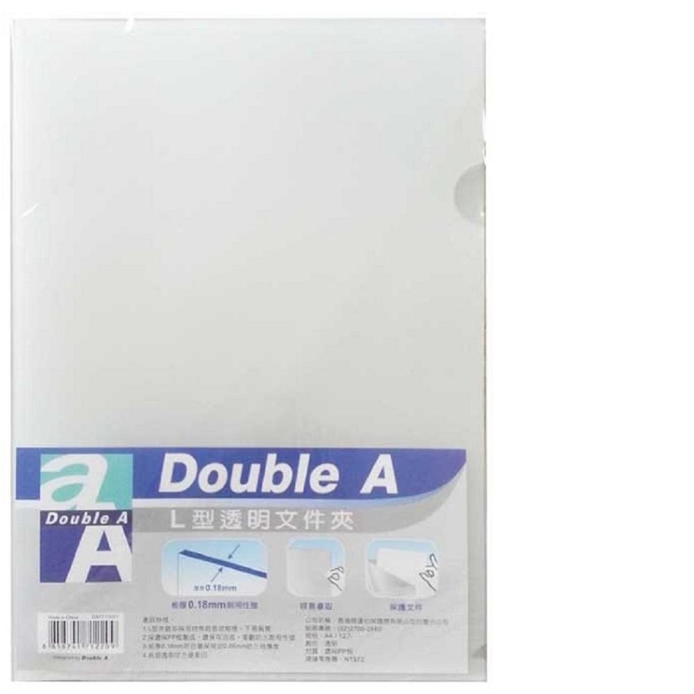 【60入組】Double A L型透明文件夾 A4(0.18mm) @ Y!購物