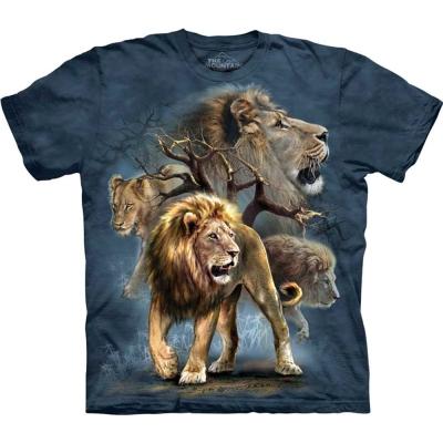 摩達客 美國進口The Mountain 大獅群  純棉環保短袖T恤