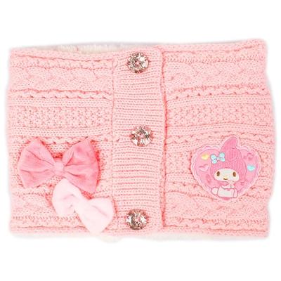 Sanrio 美樂蒂女童用前扣式針織脖圍(緞帶)