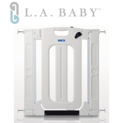 (美國 L.A. Baby) 雙向自動上鎖安全門欄/圍欄/柵欄(贈兩片延伸件)