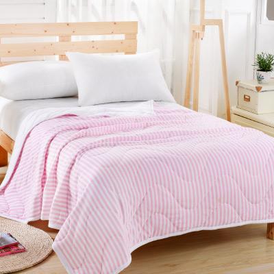 Saint Rose 簡約美學-粉 純棉針織舒適親膚四季涼被一入