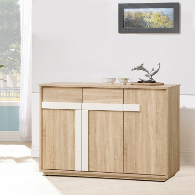 凱曼 布萊德4尺橡木紋餐櫃收納櫃