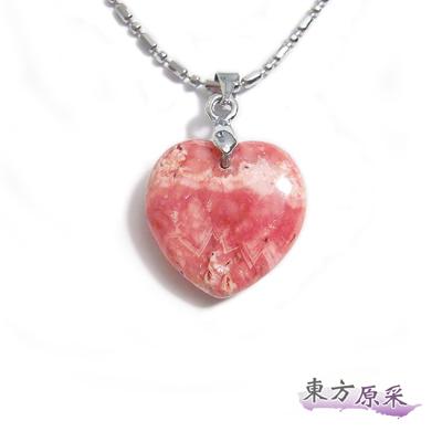 東方原采-好人緣紅紋石心型項鍊