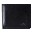 SIKA義大利素面牛皮簡約中性短皮夾(含拉鍊零錢匣) A8220-03質感黑