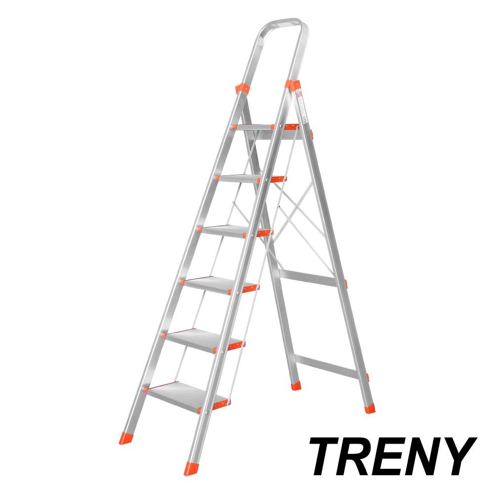 TRENY 大踏板 六階鋁梯