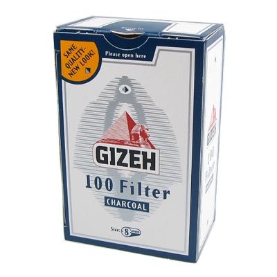 GIZEH 德國進口 8mm活性碳濾嘴 100粒裝 2盒