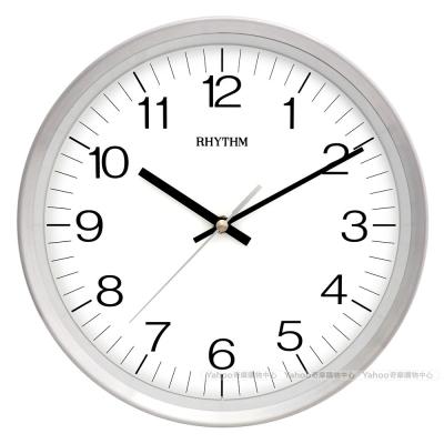 RHYTHM日本麗聲 鋁合金外框簡約超靜音掛鐘/ 25 cm