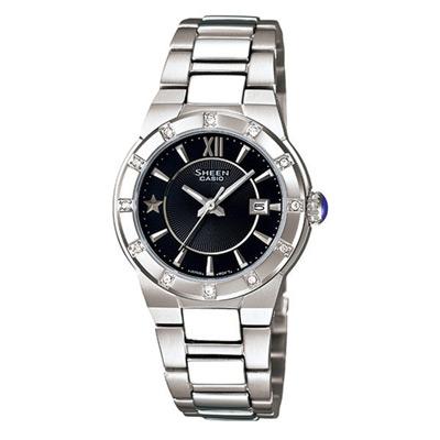 CASIO SHEEN系列 耀眼典藏都會時尚腕錶(黑)-29mm