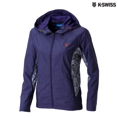 K-Swiss Panel Print Jacket風衣外套-女-紫