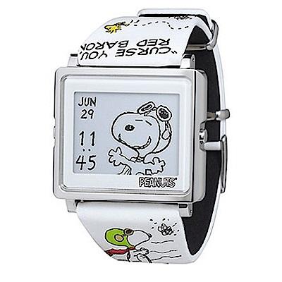 Smart Canvas 史努比 王牌飛行員 電子紙腕錶