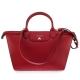 Longchamp Le Pliage Heritage 法式典雅兩用水餃包-深紅色/大 product thumbnail 1