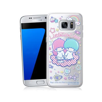 三麗鷗正版 雙子星 三星 Galaxy S7 5.1吋 透明軟式保護殼(休閒)