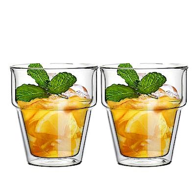 FUSHIMA富島 疊疊系列雙層耐熱玻璃杯240ML*2入