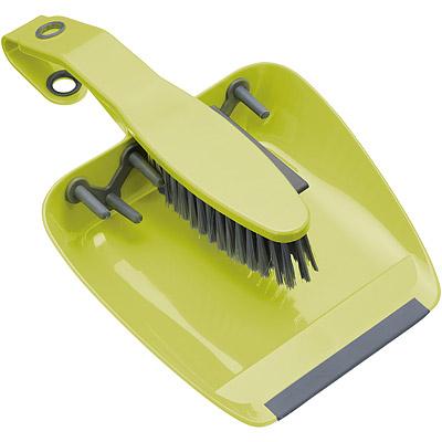 KitchenCraft 桌面掃把+畚箕(綠)