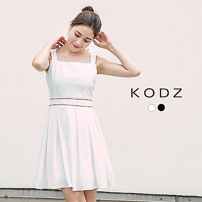 東京著衣-KODZ 約會必敗款百褶無袖洋裝-S.M.L(共二色)