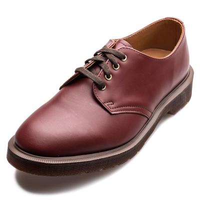 Dr.Martens-復古SMITHS4孔馬汀鞋-男款-深紅色