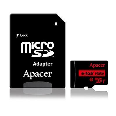 Apacer宇瞻 64GB MicroSDXC UHS-I 記憶卡(85MB/s)