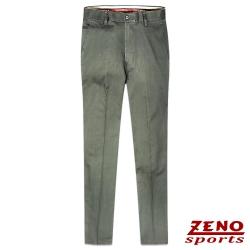 ZENO 細直紋輕棉無摺休閒褲‧卡其綠32~42
