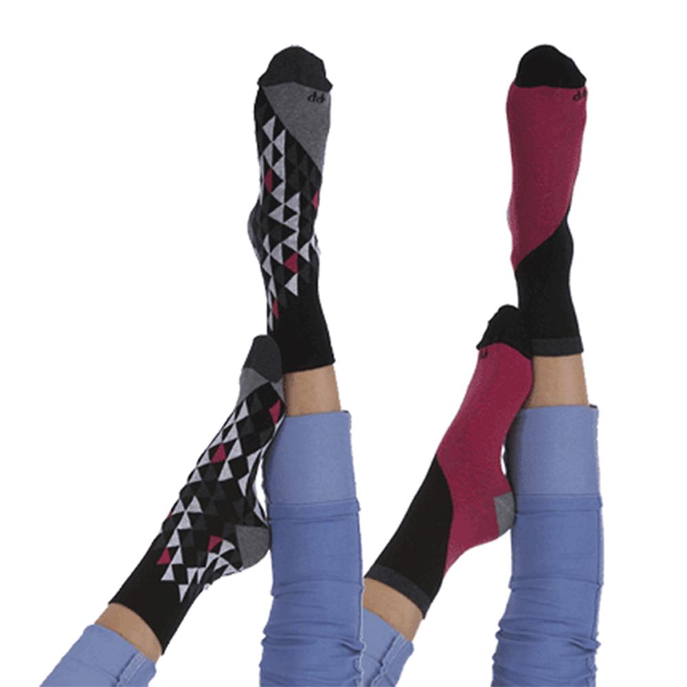 摩達客 英國進口Pretty Polly時尚嬉皮圖騰紋棉襪腳踝襪短襪超值組 一組兩雙不同款