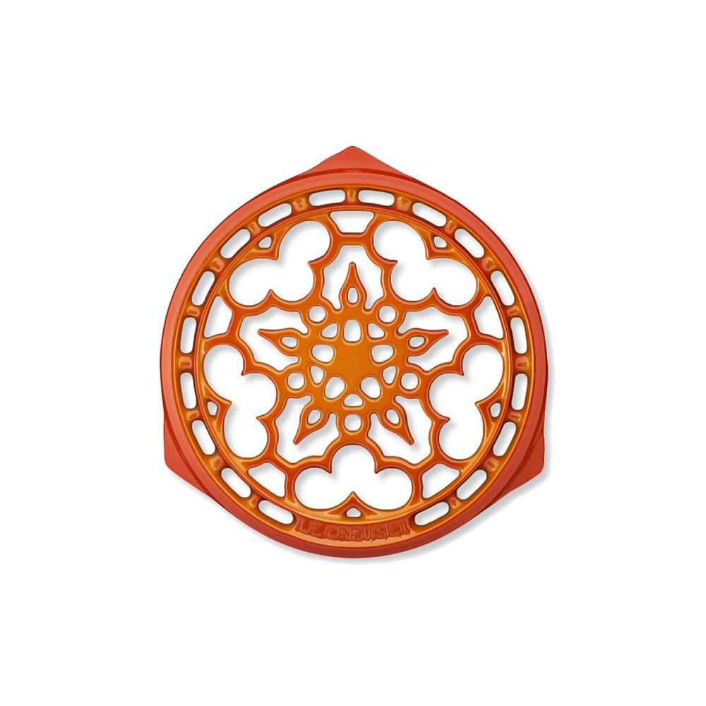 LE CREUSET 琺瑯鑄鐵鍋架 (火焰橘)