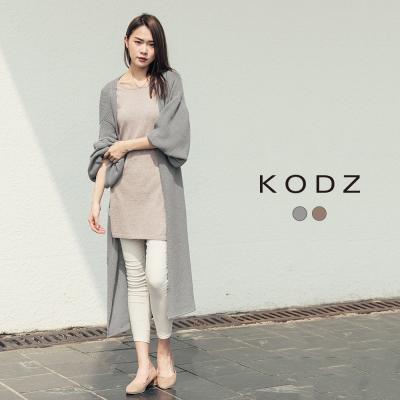 東京著衣-KODZ 歐美慵懶舒適大澎袖針織外套-S.M.L(共二色)