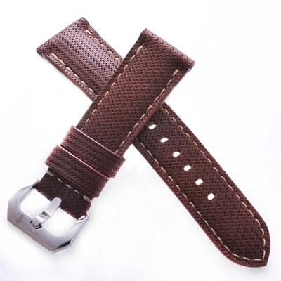 TED SU 太和錶帶 蘇格蘭Panerai 沛納海代用帶淺咖啡色米色線-24*22