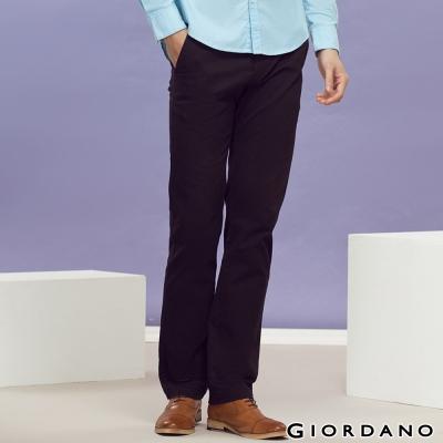 GIORDANO-男裝中腰標準窄管休閒褲-09經典