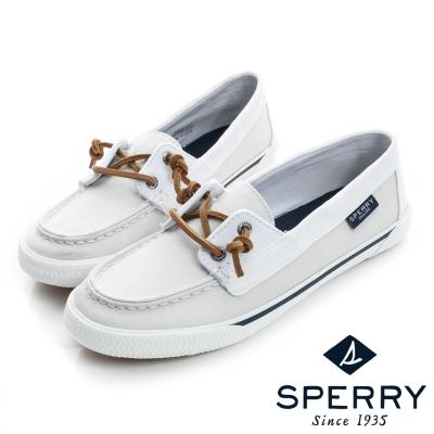 SPERRY 街頭風尚經典帆布鞋(女)-時尚白