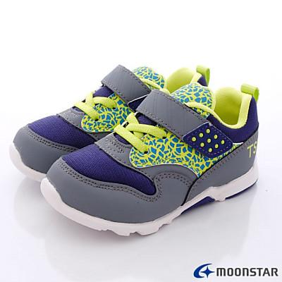 日本月星兒茶素機能鞋-新創變色款-55A7-中小童