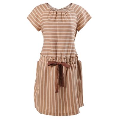 ohoh-mini 歐歐咪妮 條紋腰部綁帶洋裝