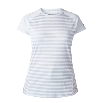 【Berghaus 貝豪斯】女款銀離子條紋短袖S04F15-灰