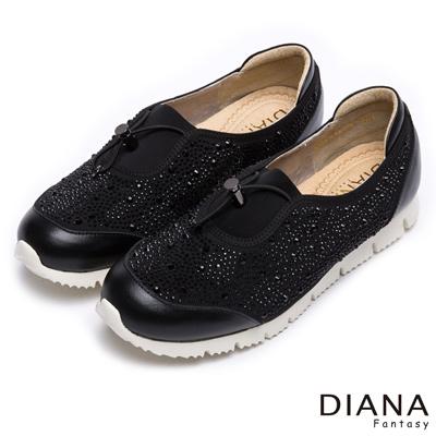 DIANA-輕-愛的-耀眼銀河系鬆緊拉繩平底休閒鞋