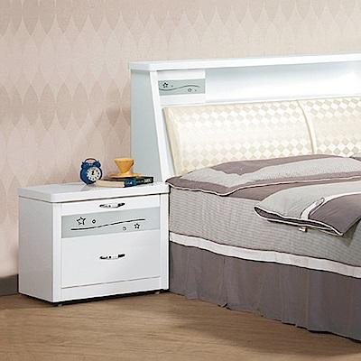 AS-巴德白色床頭櫃-53.5x41.2x50cm