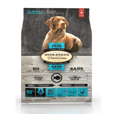 Oven-Baked烘焙客 無穀魚肉配方(大顆粒) 全犬 天然糧 12.5磅 x 1包