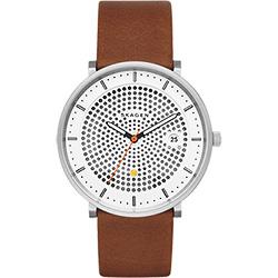 SKAGEN HALD 系列 solar 北歐風女錶-黑x白x咖啡/40mm