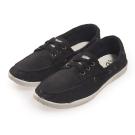 (女)Natural World 西班牙休閒鞋 素面3孔綁帶款*黑色